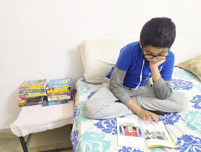 The bedtime stories Aayurv read every night drove him from being a reader to a published author