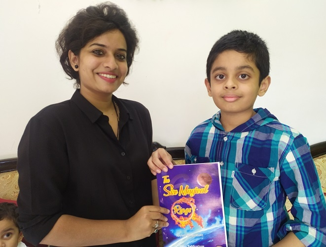 While Aayurv started writing, his mother helped him initially and his English teacher Miss Shivani Algiwale assisted him with grammar