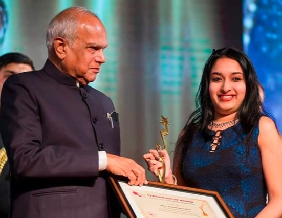 the youngest to receive the prestigious WOMAN ICON INDIA AWARD for the year 2019