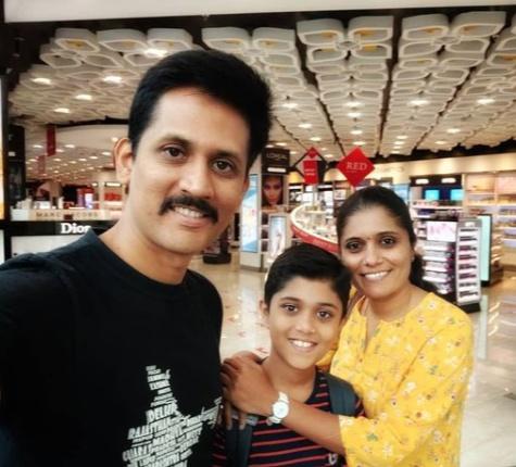 Rahul Vellal with His Parents Ravishankar Vellal(Father)Hema S(Mother)