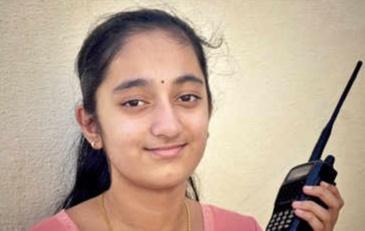 Prama Rao country's youngest female amateur HAM Radio operators