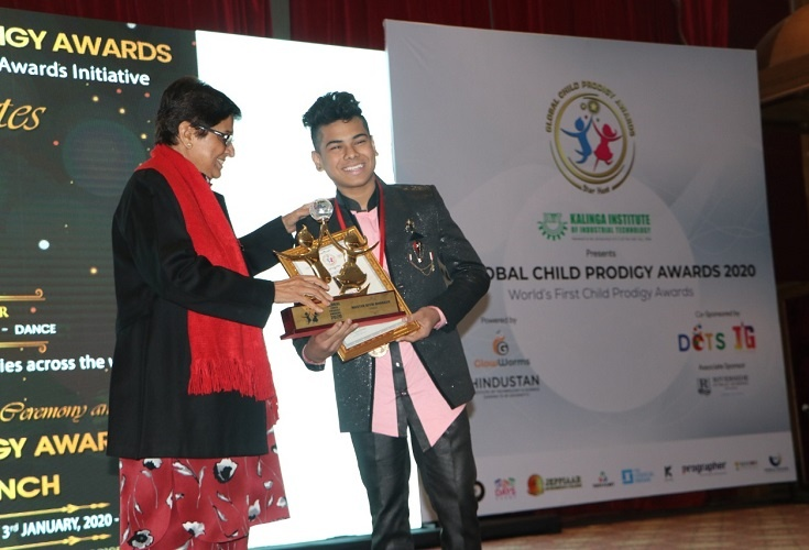 Ritik received the Global Child Prodigy Award
