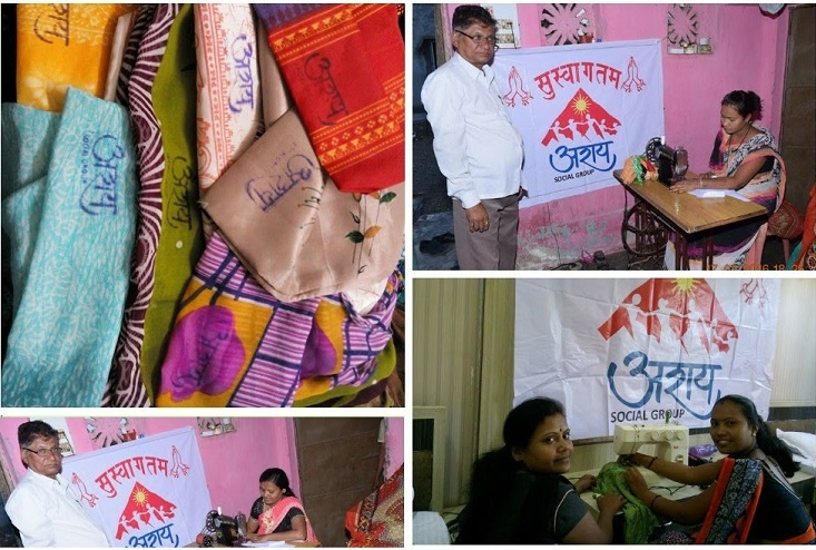 Seema would outsource the sewing to 4 to 5 women in Bhusawal and bring the cloth bags back to Mumbai for distribution among shopkeepers