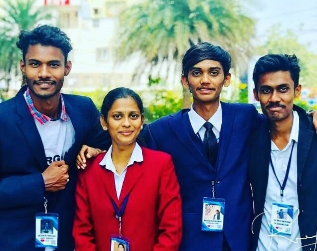 His friends Onisha Reddy, Gokul, Sathwik and Harika who travelled with him in all his highs and lows
