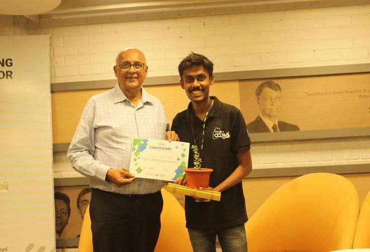 Recognition Follows Soulful Work - Saikiran was made a part of Telangana Innovation Yatra 2020