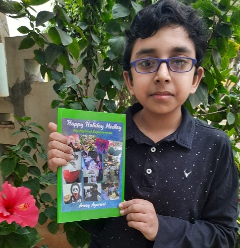 Arnay 7th Grader Kid published his first paperback, Happy Holiday Medley
