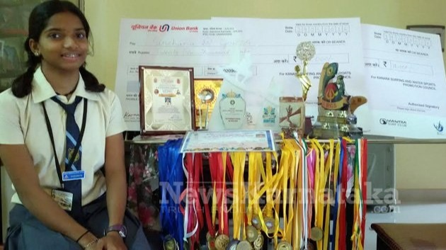 Sinchana bagged her first medal in 2014 at Covelong Point Classic Surfing International Meet at Mahabalipuram beach in an event organised by SFI