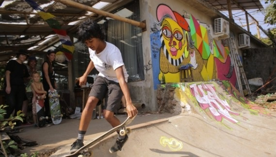 In 2013, 19-year-old Atita set her foot on a skateboard