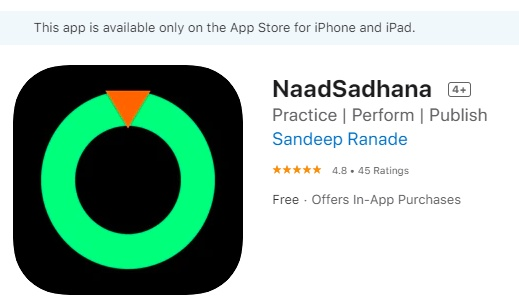 "This computer engineer has developed an iOS app called ""NaadSadhana"" that helps in practising riyaaz and developing shrutis"