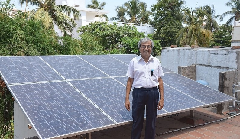 Suresh had installed his 1 kw plant and officially started generating rooftop solar electricity