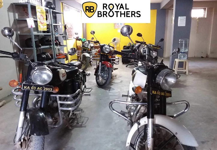 With five Royal Enfield Classic 350 cruiser bikes, they started from an 800 sq.ft office and a 100 sq.ft garage