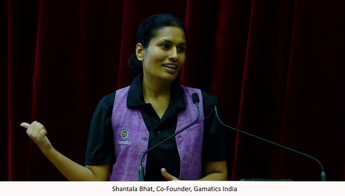 Gamactics was co-founded by Shantala Bhat along with her husband Santhosh Patil and a Paralympian and Arjuna AwardeeSharath Gayakwad