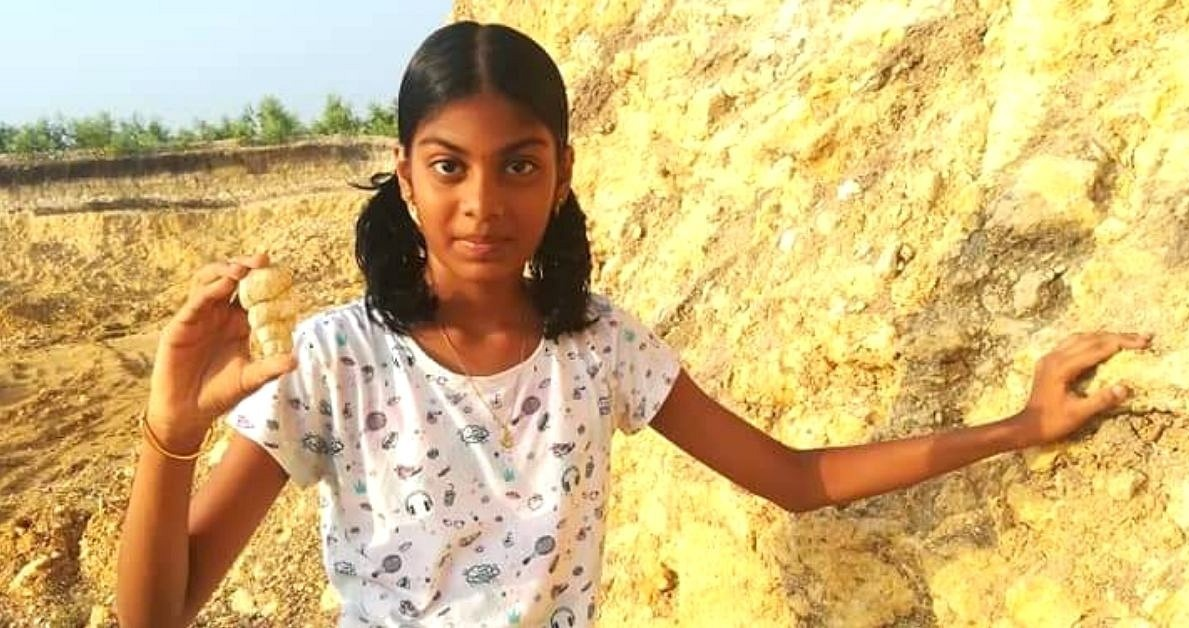 Dr Ramkumar also gave Aswatha a route map to Ariyalur bed, a Paleontological site where fossils that are millions of years old can be found asking her to collect whatever specimens she finds there