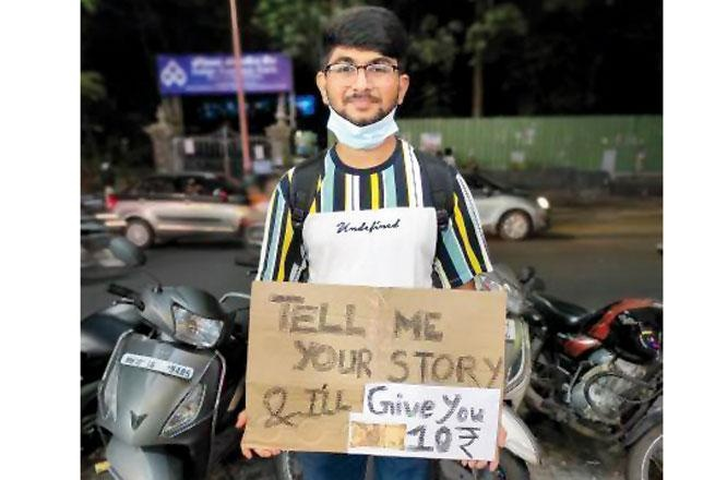 Tell me your story and I'll give you Rs.10