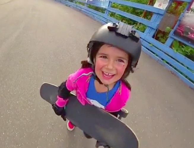 Vasilisa Ermakova 6-year-old Russian girl is a snowboarding genius