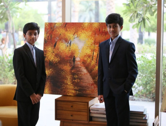Student of Abu Dhabi's Ryan Private School, Rohan is one of the youngest artists whose work was displayed at the prestigious Art Hub at Abu Dhabi