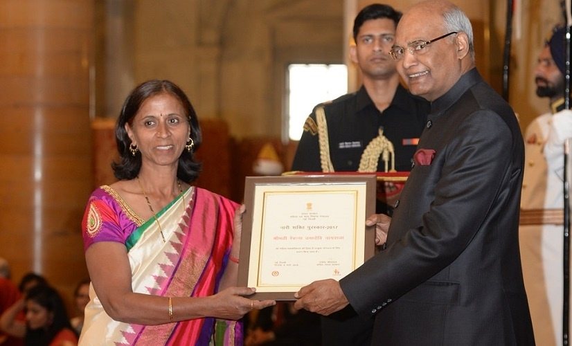 """In 2018, she was awarded the """"Nari Shakti Puraskar"""" from the President of India Mr Ram Nath Kovind and was also listed among the 30 great women of 2017"""