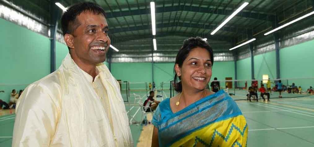 She was very supportive of Gopichand during the formation of Gopichand Badminton Academy and has contributed to the effort of securing monetary support