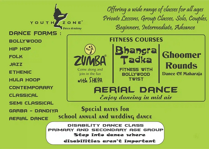 In the year 1998, Shilpa started the Youth Zone Dance academy