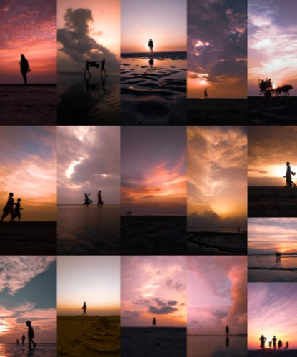 Brijal Manohar sunset series is a collection of such minimalist captures and they are her favourite Silhouettes