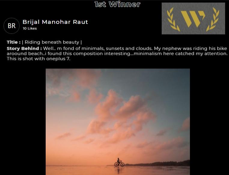 WallMag Minimalist Photography Contest 2020 jury selected Brijal Manohar as the Winner