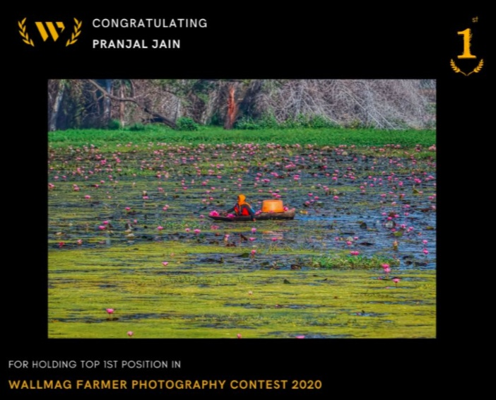 Pranjal Jain winner of the WallMag Farmer Photography Contest 2020