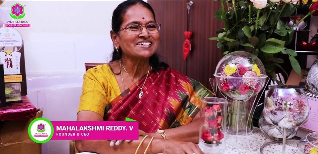 Mahalakshmi founded Lyoflorals TM a floral preservation company, that was established for preserving flowers