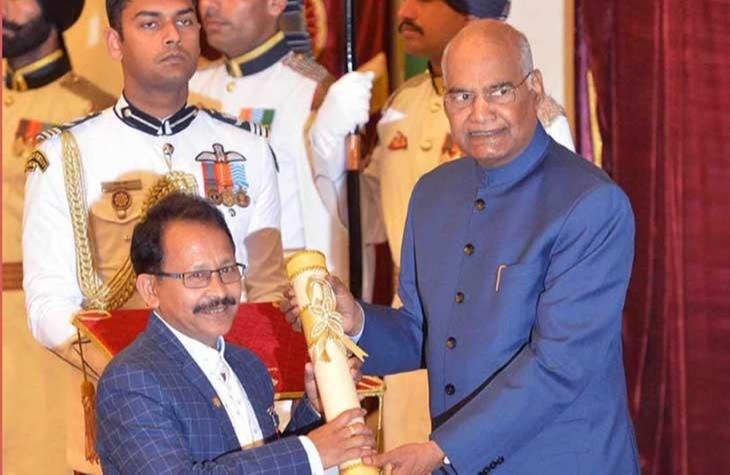 Uddhab Kumar Bharali received the Padmashri in 2019