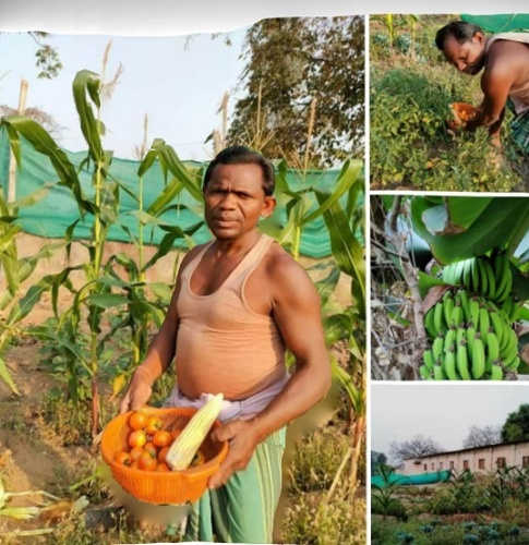 He started spreading awareness of organic and herb farming among farmers