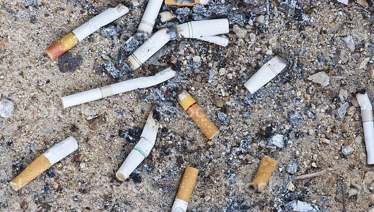 the person who smokes past the filter is actually smoking plastic