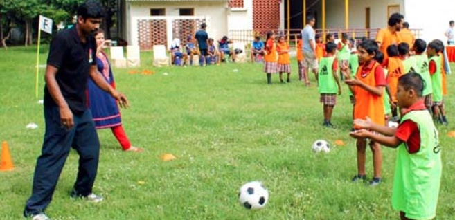 he took the help of sports and started a football tournament inviting everyone to take part