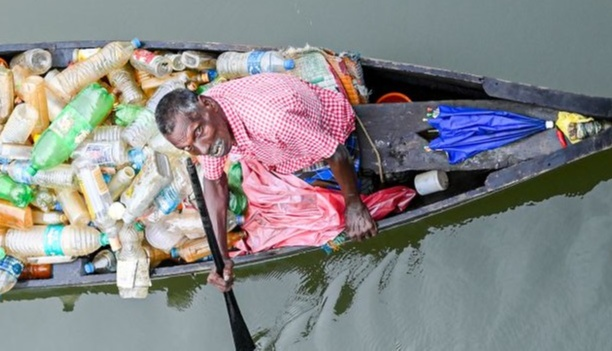 A boat full of plastic bottles will be less than one kg. For a kilogram, I just get Rs 12