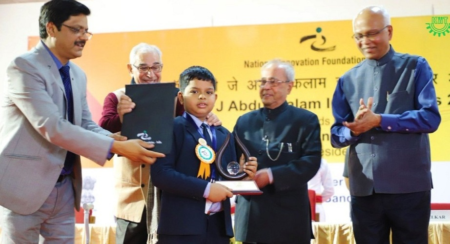 Ayushman received the APJ Abdul Kalam Ignite Award in the year 2017 organised by National Innovation Foundation (NIF)-India