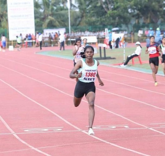 It was in 2018 that Dhanalakshmi jumped onto the tracks to show the world the athletic side of her
