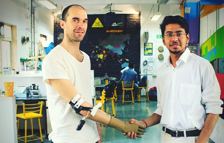This inspired Prashant and he decided to take this as his project - to build bionic arms