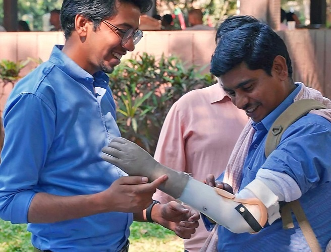 Inali has provided over 2,500 prosthetic arms to people from all across India - free of cost