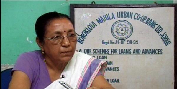 Lakhimi Baruah - The founder of Konoklota Mahila Urban Cooperative Bank in 1998 in Jorhat Assam
