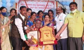 The Karnataka government honoured her with the annual Kannada Rajyotsava award in 2010