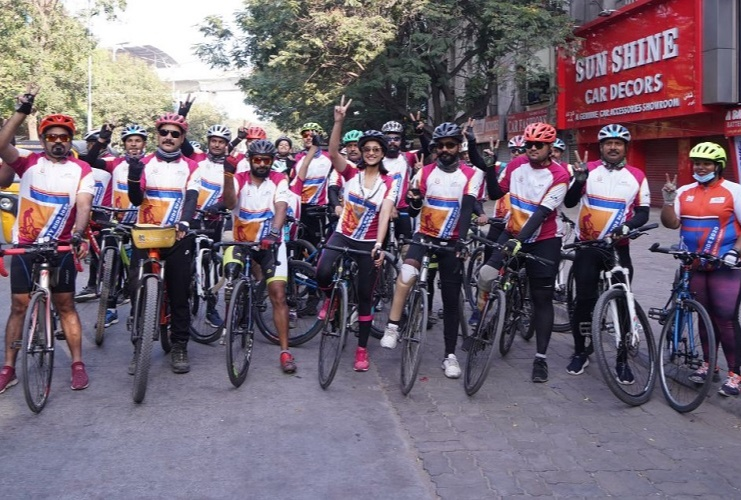 The sixth edition of the Infinity Ride covered 36 cities in 41 days covering 3,801 km