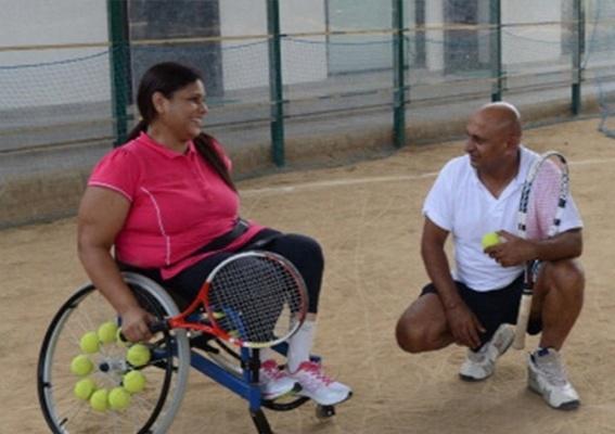 She worked with determination under her coach Pramesh Mod