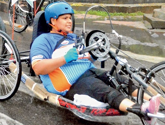 She took a different route and tried para-cycling