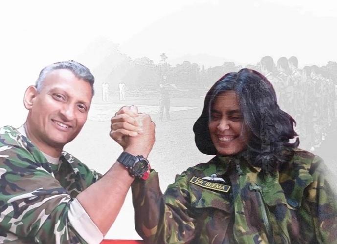 Seema Rao with her husband Major Deepak Rao, trained more than 15,000 commandos