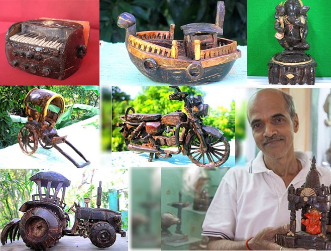 Vijayanand drives you Coconuts with his creative Shell art. Any and every art is inspiring