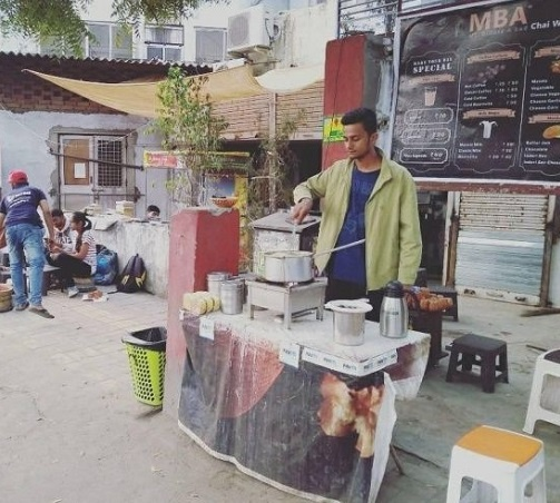 Prafull soon left his job at McDonald's and concentrated full-time on the tea stall