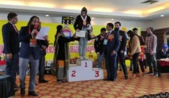 She bagged a gold medal and secured a seat for herself in the state-level championship