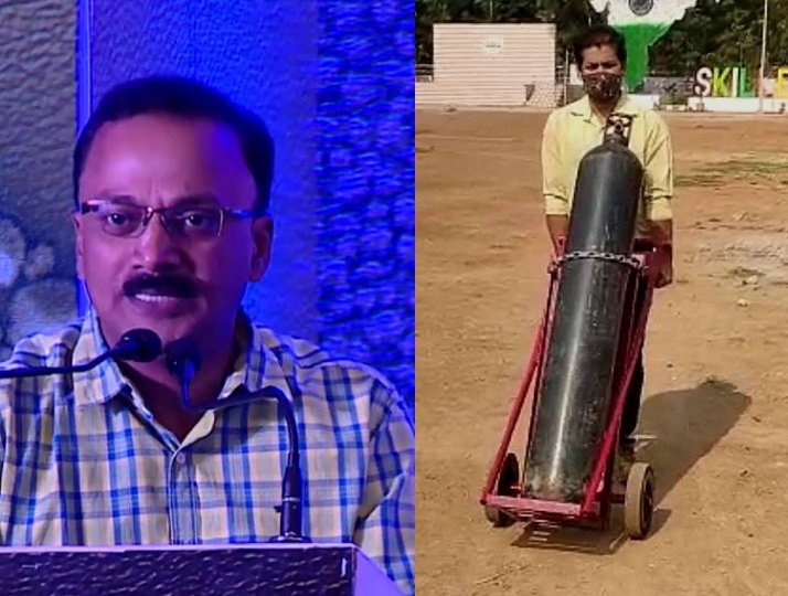 Found that Oxygen cylinder transportation was unsafe, prof immediately came up with a solution