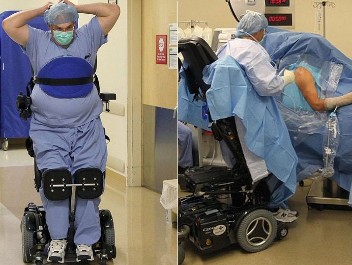I am paralyzed waist-down but how the hell do I get back to doing surgeries. Willpower only
