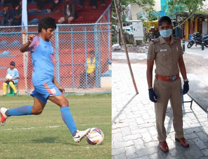 I am passionate about both careers. Being an Indian Womens Football captain and sub-inspector