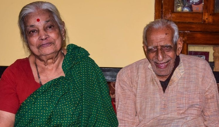 HS Doreswamy with His Wife Lalithamma
