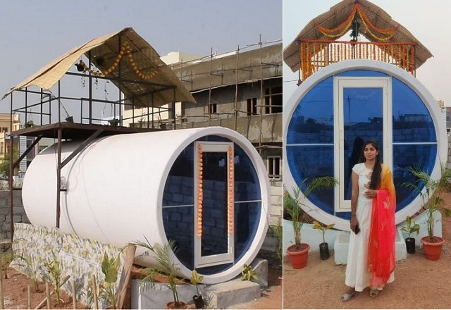 Giving Shape To Her Thought - Pod-style home